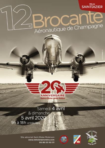 Aérobroc 2020 Saint-Dizier Aéro Rétro